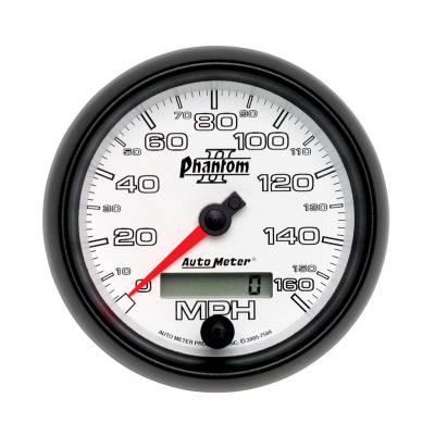 """Instrument Panel - Speedometer Gauge - AutoMeter - GAUGE, SPEEDOMETER, 3 3/8"""", 160MPH, ELEC. PROGRAMMABLE, PHANTOM II - 7588"""