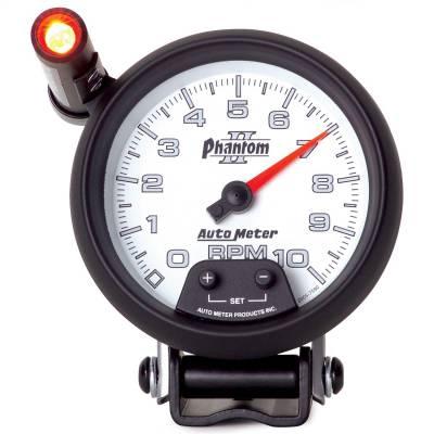 "Instrument Panel - Tachometer Gauge - AutoMeter - GAUGE, TACHOMETER, 3 3/4"", 10K RPM, PEDESTAL W/ EXT. QUICK-LITE, PHANTOM II - 7590"