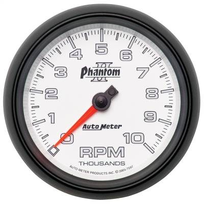 "Instrument Panel - Tachometer Gauge - AutoMeter - GAUGE, TACHOMETER, 3 3/8"", 10K RPM, IN-DASH, PHANTOM II - 7597"
