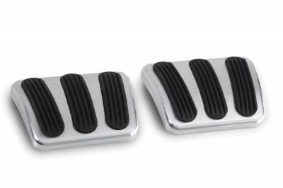 Lokar 1964-1972 Chevelle Billet Aluminum Curved Brake & Clutch Pad W/Rubber Insert -pair - BAG-6132
