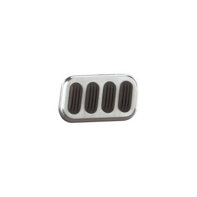 Lokar Billet Alum Brake Pad W/Rubber - BAG-6005
