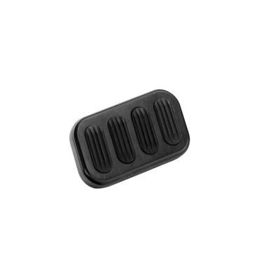 Floor - Brake Pedal Pad - Lokar - Lokar Black Aluminum Brake Pad W/Insert - XBAG-6005