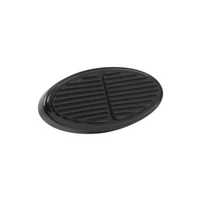 Floor - Brake Pedal Pad - Lokar - Lokar Black Mini Oval Aluminum Brake Pad - XBAG-6106
