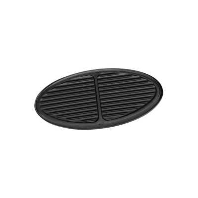 Floor - Brake Pedal Pad - Lokar - Lokar Black Oval Aluminum Brake Pad - XBAG-6107