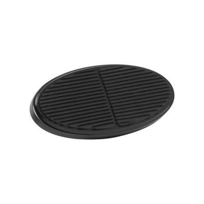 Floor - Brake Pedal Pad - Lokar - Lokar Black XL Oval Aluminum Brake Pad - XBAG-6108